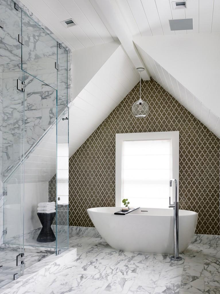 Elegant modern master bathroom